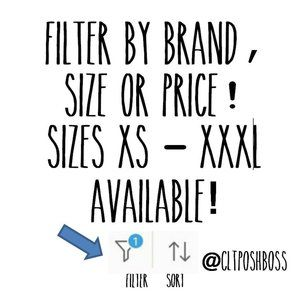Find your size or brand!